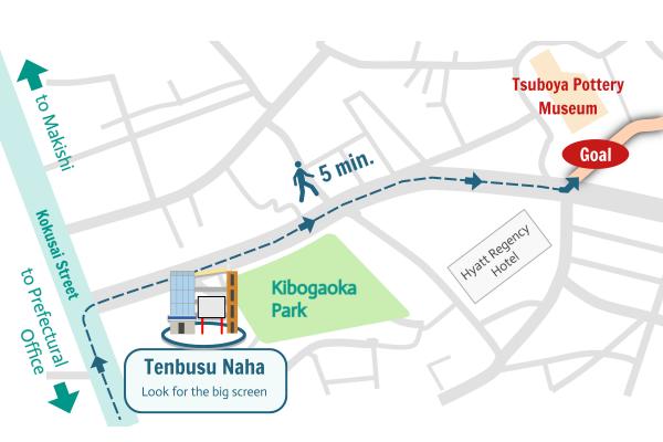 Tsuboya Access Map